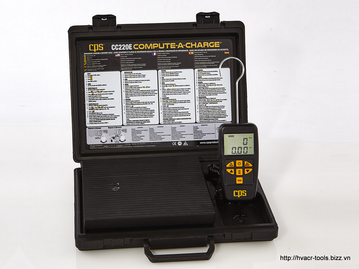 Cân nạp ga điện tử Bluetooth lập trình được CC220EW