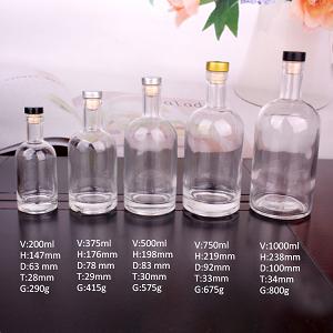 Chai Thủy Tinh Đựng Rượu Vodka