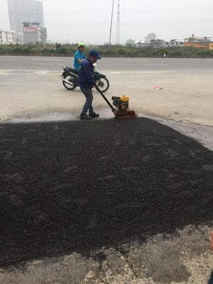 Thi công vật liệu carboncor asphalt