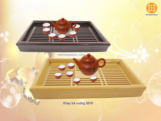 Khay trà nhựa giả gỗ No 5676