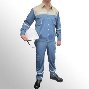 Quần áo bảo hộ lao động pangrim Hàn Quốc 2721 pha màu xanh ghi