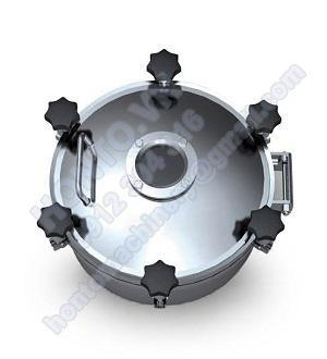 Cửa áp lực bồn Tank Inox tròn có kính HONTO