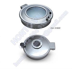 Cửa áp thường bồn tank inox tròn có kính HONTO-B-C