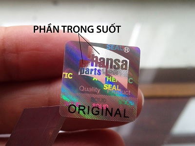 Tem Chống Giả Hologram Trong Suốt