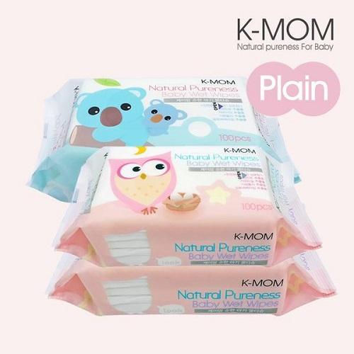 Combo 10 hộp Khăn ướt cao cấp K-Mom Hàn Quốc