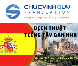 Dịch Thuật Công Chứng Tiếng Tây Ban Nha