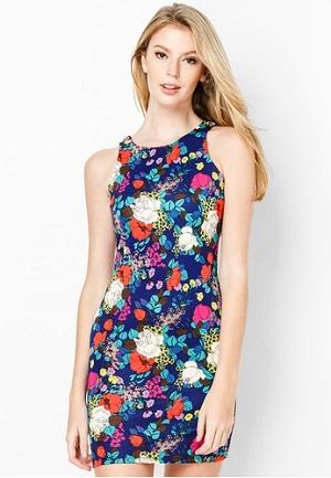 Đầm ôm body hoa