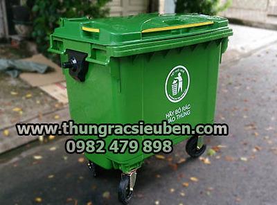 Thùng rác HDPE 660L