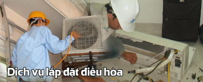 Lắp đặt máy lạnh tại nhà khu vực Biên Hoà