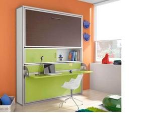 Giường, bàn học thông minh, xếp gọn kiểu hai tầng