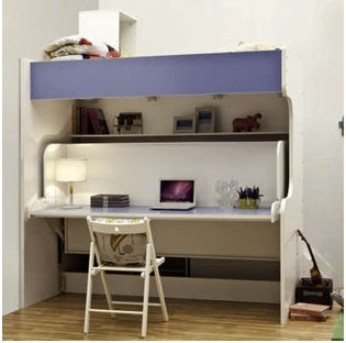Giường, bàn học thông minh, xếp gọn kiểu 2 tầng