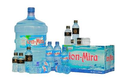 Nước uống đóng chai ion Mira