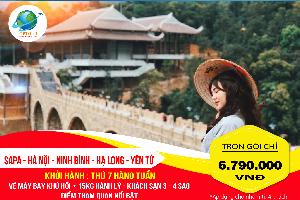 Tour Du Lịch Sapa – Hà Nội – Ninh Bình – Hạ Long – Yên Tử 6N5Đ