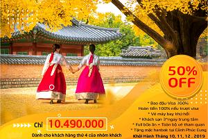 Tour Du Lịch Hàn Quốc – Cung Đường Vàng – Seoul – Nami – N Tower – Everland