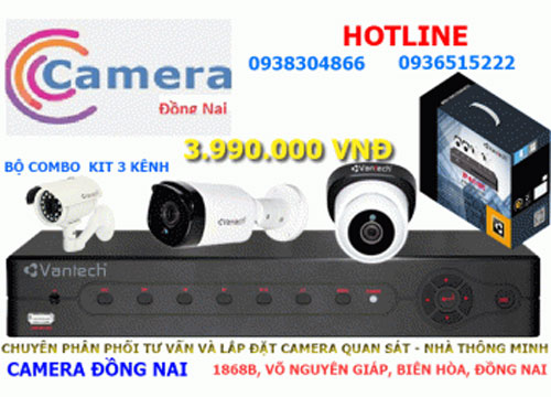 Trọn bộ CAMERA 3 kênh Vantech