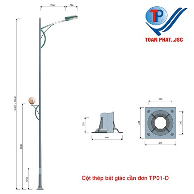 Cột đèn TP01-D
