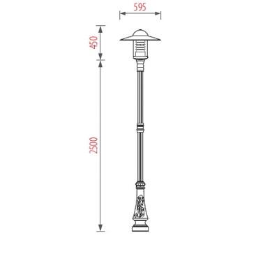 Cột đèn sân vườn TPSV01