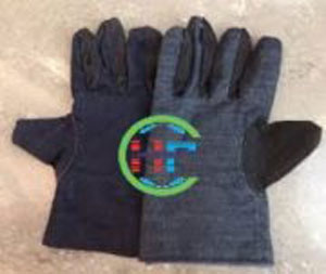 Găng tay vải kaki 2 lớp