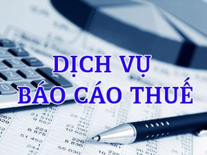 Dịch vụ báo cáo thuế hàng năm
