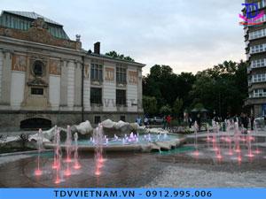 Đài phun nước âm sàn cho khu đô thị