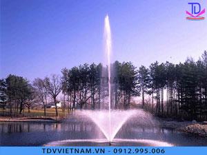 Đài phun nước mini cho sông hồ