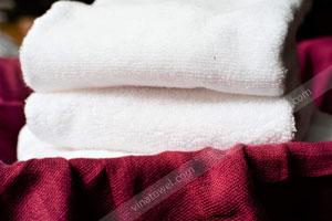 Khăn Tắm Cotton Trắng 60x120