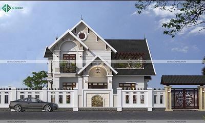 Thiết kế - thi công biệt thự mái thái