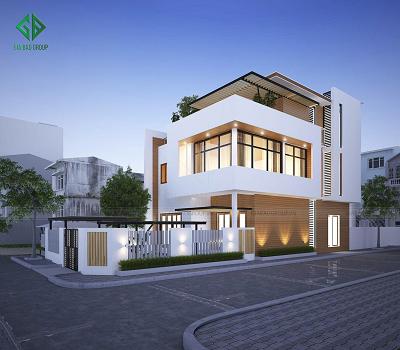 Thiết kế - thi công nhà phố hiện đại