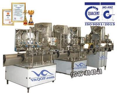 Máy chiết rót chai rự động 3 trong 1 VACGF 2000