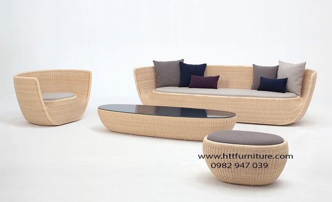 Bộ Sofa mây tự nhiên cao cấp HTT-SFM3