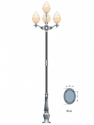 Cột đèn trang trí sân vườn