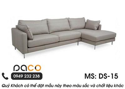 Sofa Da Góc L DS (Mfiber Hoặc Da Bò Ý Tx)