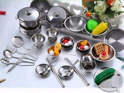 Bộ Đồ Chơi Nấu Ăn Inox 40 Món Cho Bé